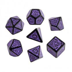 Call of Cthulhu Horror on the Orient Express Black and Purple Dice