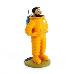 Figur 12 cm resin Haddock kosmonaut