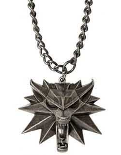 The Witcher 3 Wild Hunt Medallion and Chain Wolf