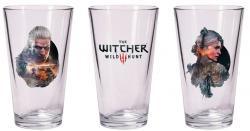 The Witcher 3 Wild Hunt Pint Glass Set Geralt & Ciri