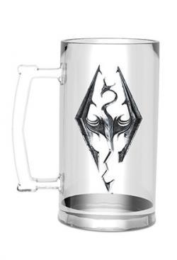 Elder Scrolls V Skyrim Glass Stein Dragon Symbol