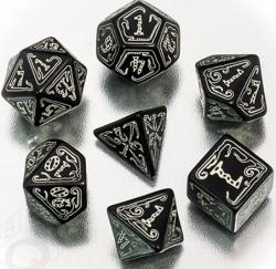 Call of Cthulhu 7th ed. Black / Glow in the Dark Dice Set
