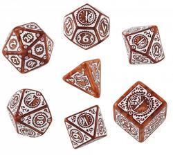 Steampunk RPG: Caramel/White Dice Set