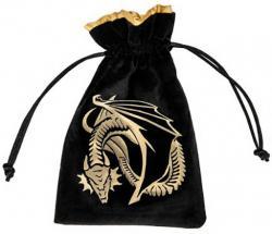Dice Bag: Dragon Black/Golden Velour