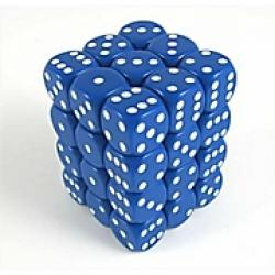 Opaque Blue with White Dice Block (36 d6)