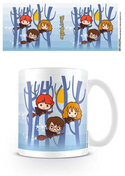 Harry Potter Kawaii Harry Ron Hermione Flying Mug