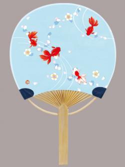 Goldfish Small Bamboo Fan