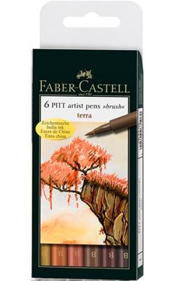 Ritpenna PITT Artist Brush Terra set 6 pennor
