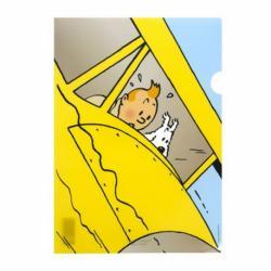 Plastmapp - Tintin och Milou störtar
