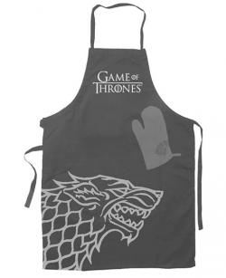 Cooking Apron with Oven Mitt Stark