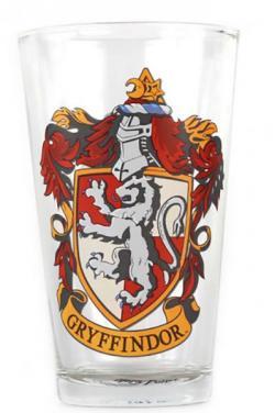 Harry Potter Large Glass - Gryffindor Crest