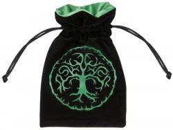 Dice Bag: Forest Black/Green Velour