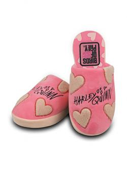 Birds of Prey Harley Quinn Cosy Hearts Pink Ladies Mule Slippers