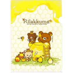 Rilakkuma A4 Plastic File Folder: Harvest Festival in Honey Forest