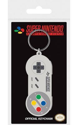 Super Nintendo Rubber Keychain SNES Controller 6 cm