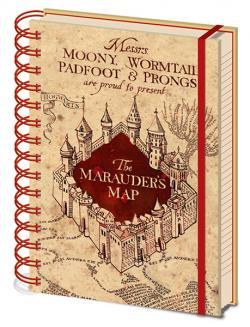 Harry Potter Marauders Map A5 Wiro Notebook