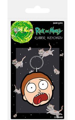Rubber Keychain Morty Terrified Face 6 cm