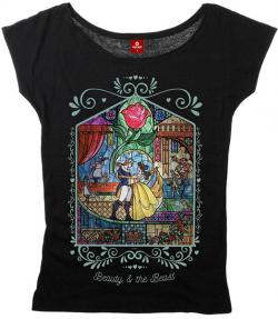Beauty and the Beast Ladies T-Shirt Window
