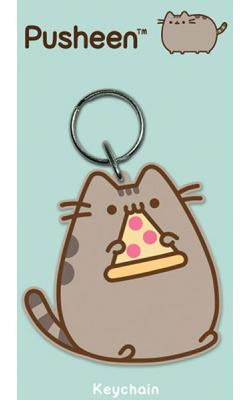 Pusheen Rubber Keychain Pizza 6 cm