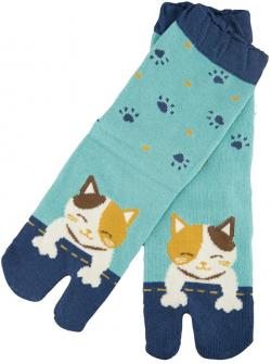 Qwu To Myi two-toe socks (Cat)
