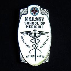 Varsity pin: Halsey School of Medicine