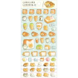Corone Bread Cat 3D Stickers: Corocoro Coronya