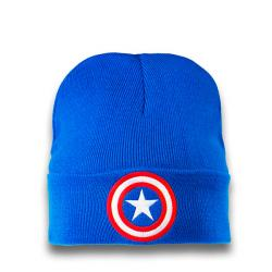 Captain America Knitted Beanie Embroidered Shield Logo