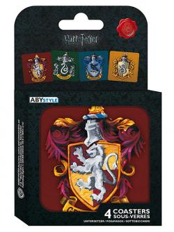 Harry Potter Set 4 Coasters Houses