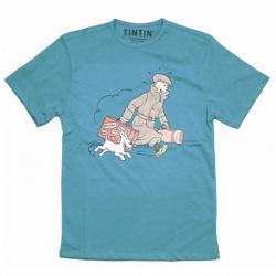 T-Shirt - Blå Ils Arrivent Small