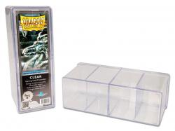 4 Compartment Card Box CLEAR (Holds 300 Sleeved Cards)