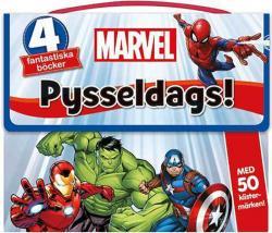 Marvel: Pysseldags! 4 fantastiska böcker + 50 klistermärken