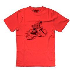 T-Shirt - Röd Cykel Medium