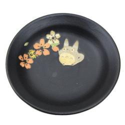 Totoro ceramic small plate black