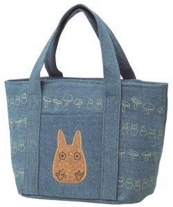 Totoro Denim Picnic Bag Blue