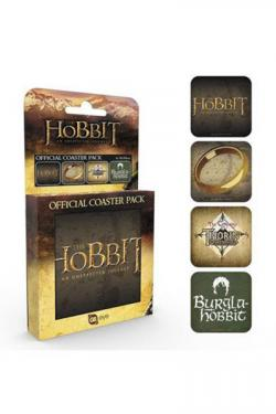 Hobbit Coasters 4-pack