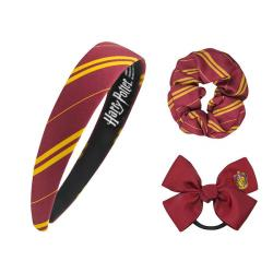 Harry Potter Headband Scrunchy Bow Set Gryffindor