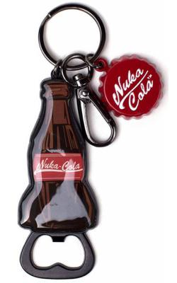 Keychain with Bottle Opener Nuka Cola Bottle