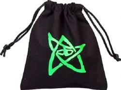 Dice Bag: Black bag w green Elder Sign