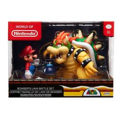 Super Mario 3-Pack Mario vs. Bowser Lava Battle Figures