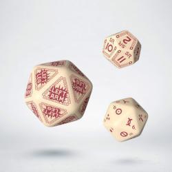 RuneQuest RPG - Beige & Burgundy Expansion Dice