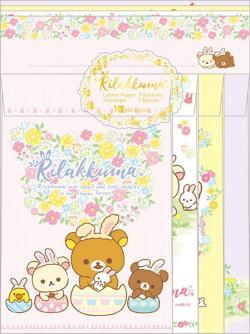 Rilakkuma Letter Set: Rabbits in the Flower Forest