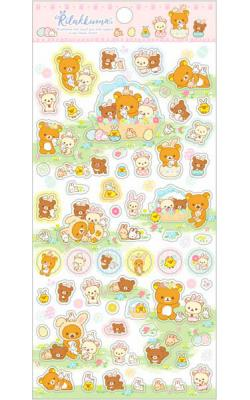 Rilakkuma Stickers: Rabbits in the Flower Forest