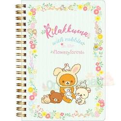 Rilakkuma Notebook: Rabbits in the Flower Forest