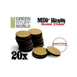 MDF Bases - Round 25 mm
