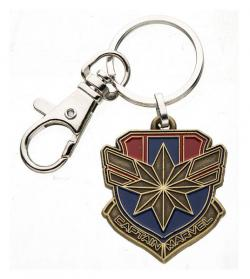 Captain Marvel Metal Keychain Logo