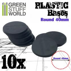 Plastic Bases - Round 40mm BLACK