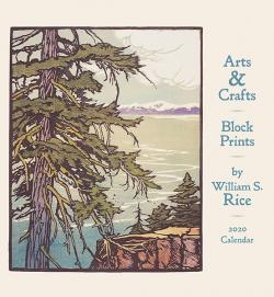 Arts & Crafts Block Prints 2020 Wall Calendar