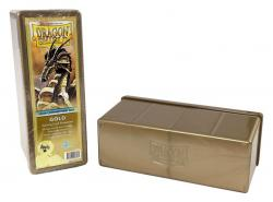 4 Compartment Card Box GOLD (Holds 300 Sleeved Cards)