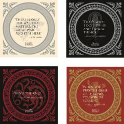 Game of Thrones Coaster Set Quotes