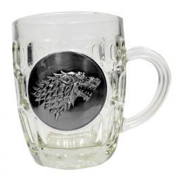 Beer Glass Stark Metallic Logo